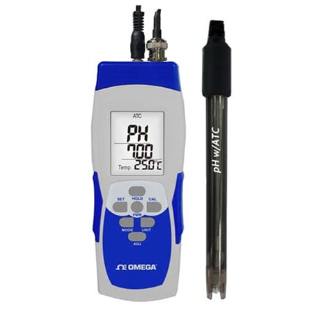 Handheld pH/mV Meter and pH Electrode Kit