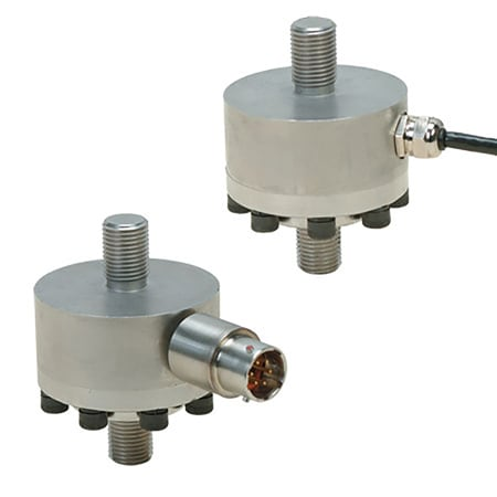 "High Accuracy Miniature Universal Load Cells, 2""  Diameter, Dual Stud Mount Style"