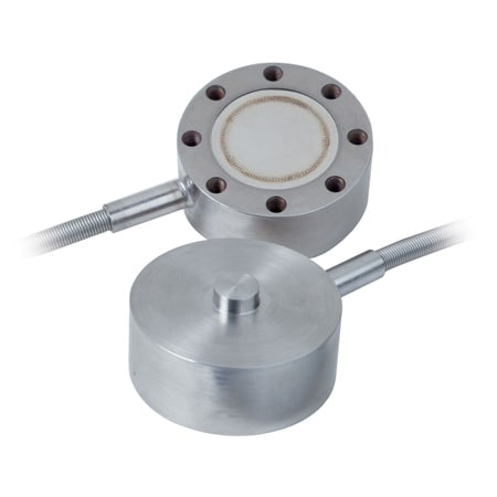 "2"" Miniature Stainless Steel Compression Load Cell with Mounting Holes"