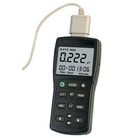 Data Logging Three Axis Electromagnetic Field Tester, Gauss Meter