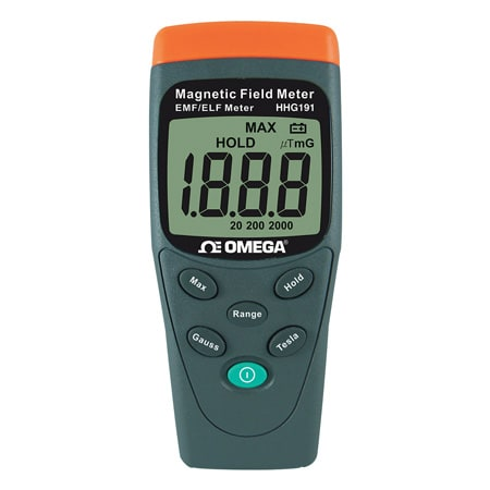 Omega Portable Magnetic Field Gauss Meter with Display