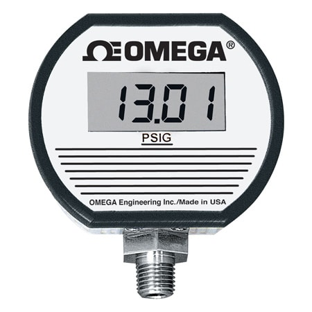 AC/DC Powered, Digital Pressure Gauge with Output and Alarms