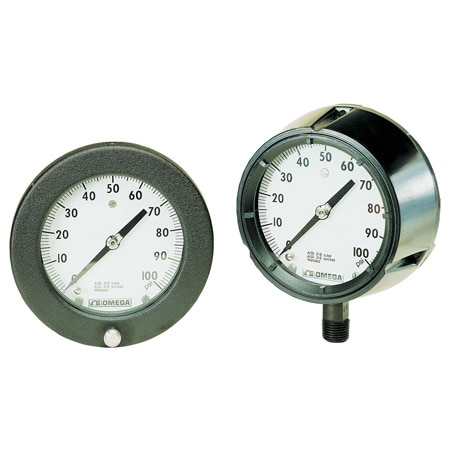 Industrial Process Gauges, Types H and J, 4 1/2 and 6-inch Dials