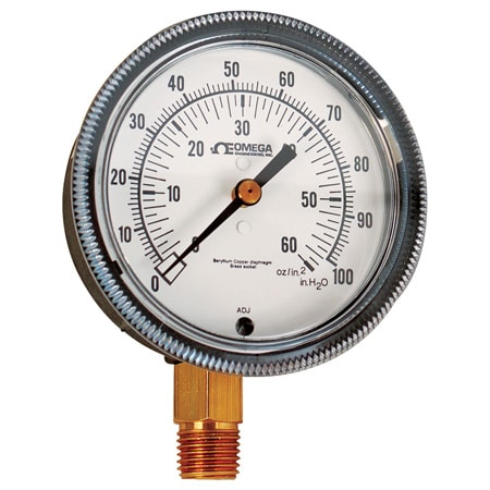 Low Pressure Gauges with Corrosion Resistance