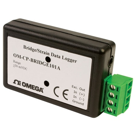 Compact USB Bridge/Strain Gage Data Logger with Large Storage