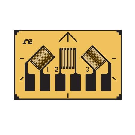 3 Element, 0°/45°/90° Planar, Compact Rosette Strain Gauges