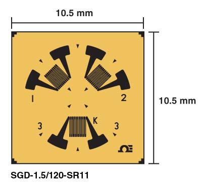 3 Element Stress Relief Strain Gauges