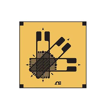 3 Element, 0°/45°/90° Corner, Compact Rosette Strain Gauges