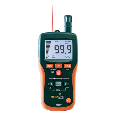 Pinless Moisture & Humidity Meter with Infrared Thermometer