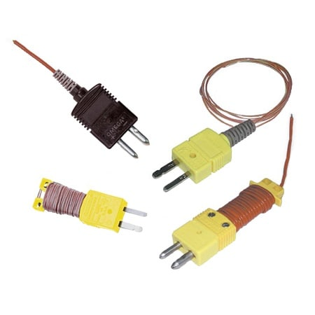 Ready-Made Insulated Thermocouples with Kapton®, PFA, Glass Braid Insulation and Molded Connectors