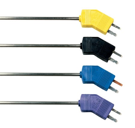 Low Noise Thermocouple Probes with Miniature Connectors Model numbers GJMQSS,GKMQSS,GEMQSS,GTMQSS
