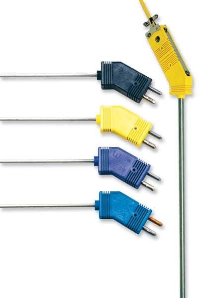 Sondes thermocouple à poignée et connecteur standard anti-parasite