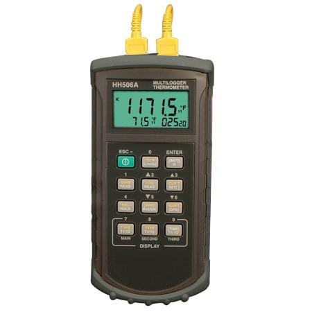 Thermomètres Enregistreur à deux entrées. RS232 ou USB{USB}{RS232}{WINXP}