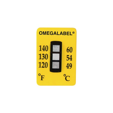 Non-Reversible Temperature Labels, 3 Temperature Ranges