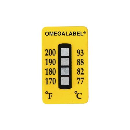 Etiquettes thermosensibles non réversibles à 4 niveaux de température