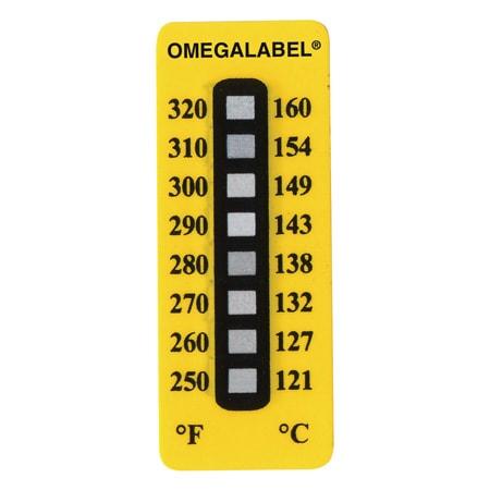 8 Point Non-Reversible Temperature Label