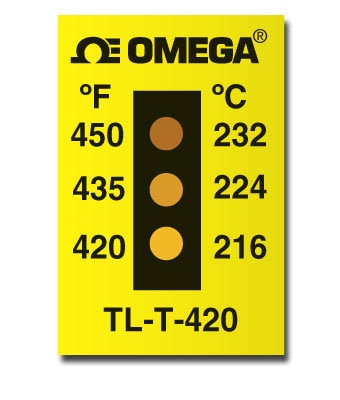 3 Dot Non-Reversible Temperature Label