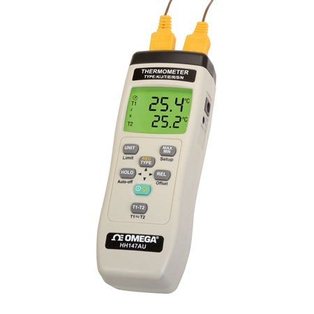 2-Channel Thermocouple Thermometer with Data Logging
