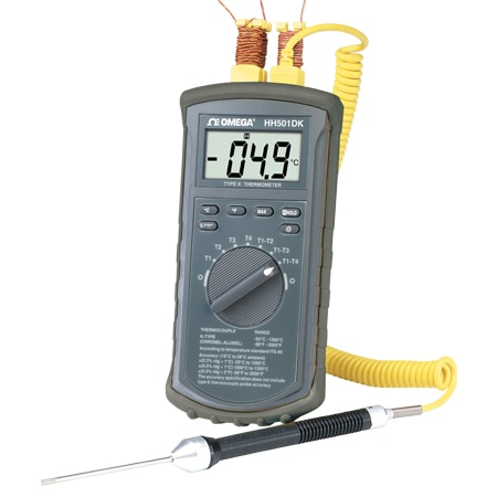 4 Channel K Type Thermocouple Meter NIST Traceable