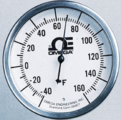 """2.37"""" Dial Bimetal Hermetically Sealed Thermometer Various Mounts"""