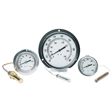 """2"""" to 4.5"""" Dials Vapor & Gas Actuated Thermometers"""