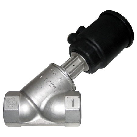 Air-Actuated Valve, 316L Stainless Steel, Normally Closed