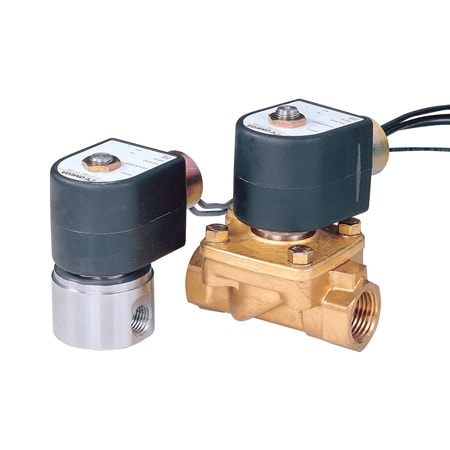2-Way, NC, Brass & SS, General Purpose Solenoid Valves
