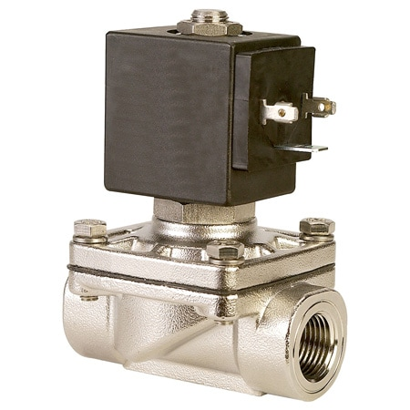 2-Way, NC, Direct Acting, SS, Solenoid Valves