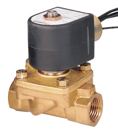 2-Way, NC, Direct Lift, Brass, Solenoid Valves for Hot Water