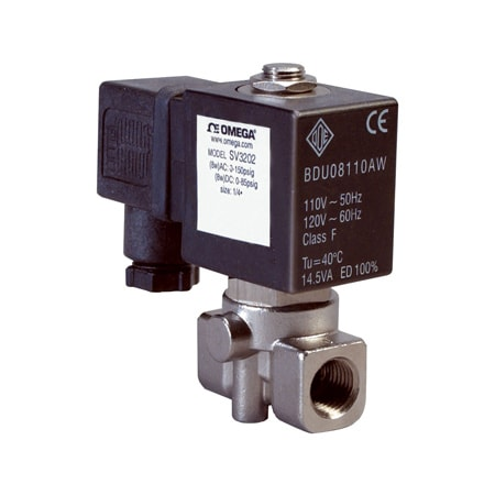 2-Way, NC, Direct Acting, 316 SS, Solenoid Valves