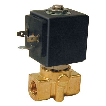 2-Way, NC, Direct Acting, Brass, High Pressure Solenoid Valve