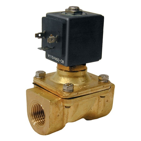 2-Way, NC, Direct Lift, Brass, Valves (Zero Differential)