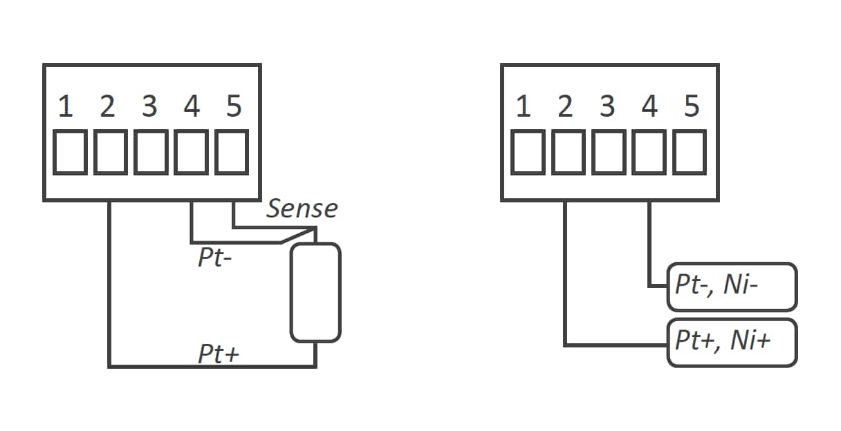 Typical Connections of Pt and Ni probes