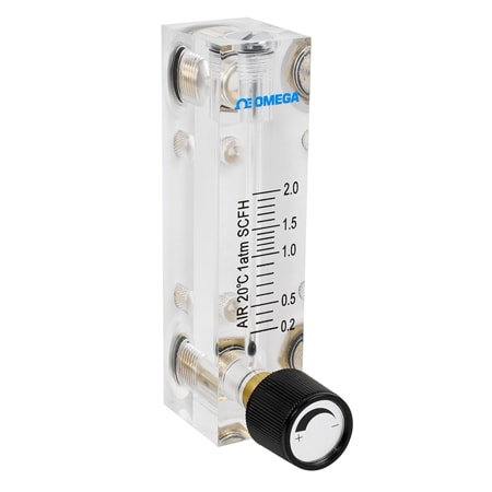 Acrylic Flow Meter for Air, 0.2-2 SCFH With Valve