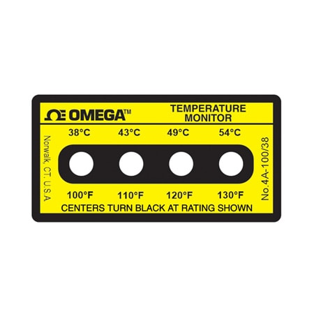Non-Reversible OMEGALABEL™ Temperature Monitors, 4 Temperatures Per Label