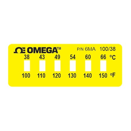 Non-Reversible OMEGALABEL™ Temperature Monitors, Models 6MA-(*) and 6MB-(*)