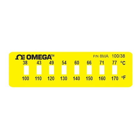 Non-Reversible OMEGALABEL™ Temperature Monitors, Models 8MA-(*) and 8MB-(*)