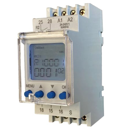 DIN Mount Digital Timer With 2 Relay Output