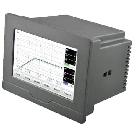 Multi-Channel Touch Screen Paperless Thermocouple or RTD Recorder