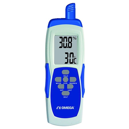 Handheld Temperature, Humidity, and Dew Point Meter