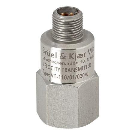 M12 axial connector, 10 to 1,000 Hz, 50 mm/s