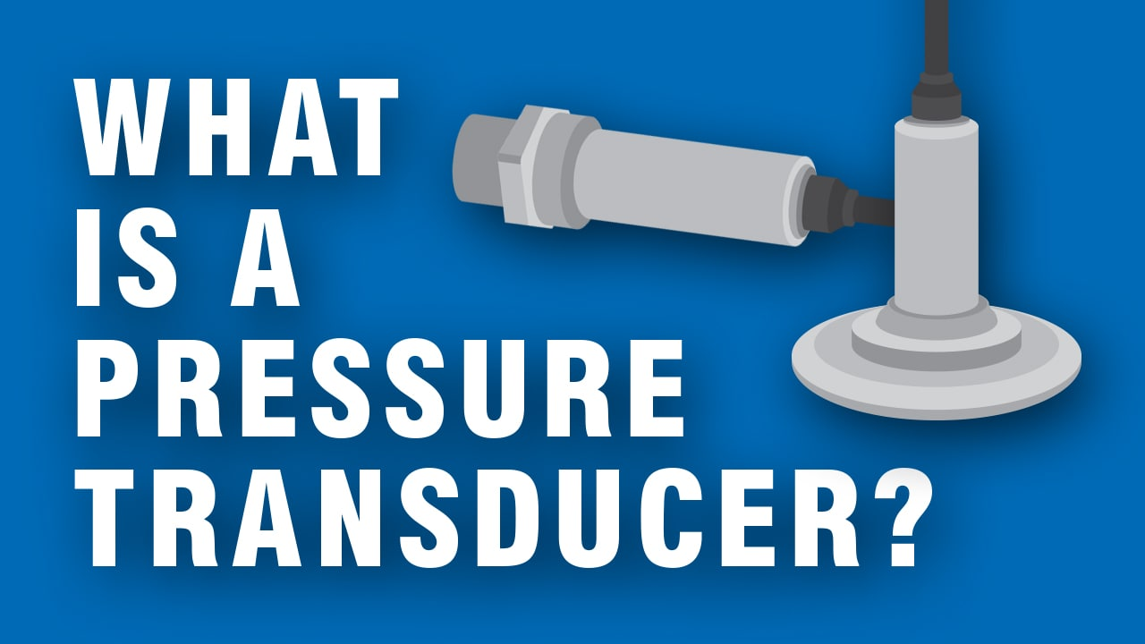 What is a pressure transducer and how does it work?