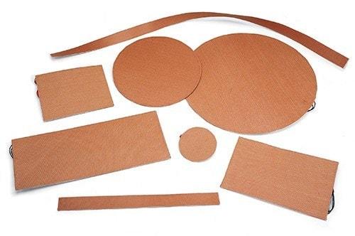 Flexible Silicone Rubber Fiberglass Insulated Heaters